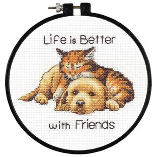 刺繍 Dimensions Better with Friends (フープ付き)